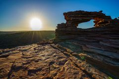 Sunrise at natures window in kalbarri national park, western australia 22 stock image