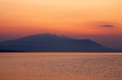 Sunrise in Nea Vrasna Stock Photo