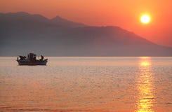 Sunrise in Nea Vrasna Royalty Free Stock Image