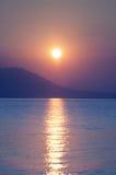 Sunrise in Nea Vrasna Stock Image