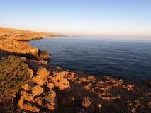 Sunrise near Bimmah. Sunrise on Omani coast near Bimmah Stock Photography