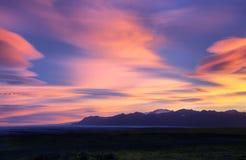 Sunrise near Fjallsarlon Glacial Lagoon Stock Photo