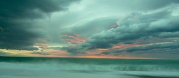 Kaikoura cloudy sunrise. Sunrise near kaikoura cloudy sea royalty free stock images