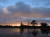 Sunrise near lake Royalty Free Stock Images