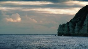 Sunrise Near Ocean Cliffs stock video