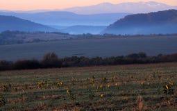 Sunrise Near Vetrintsi Village Royalty Free Stock Image