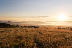Sunrise near Westcliffe, Colorado. Sunrise at the Sangre de Cristo mountain range near Westcliffe, Colorado Stock Photo