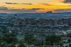 Sunrise in Needles District Stock Photography