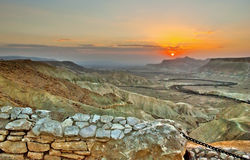Sunrise in the Negev Royalty Free Stock Photography
