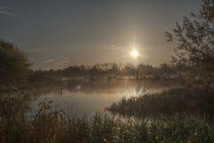 Sunrise in the Nene park Stock Photo