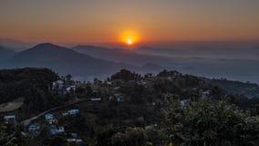 Sunrise in Nepal Stock Photography