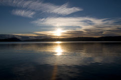 Sunrise on new years day Stock Images