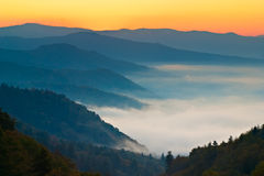 Sunrise at Newfound Gap royalty free stock images