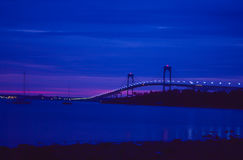 Sunrise in Newport, Rhode Island. The Sunrise on another beautiful day in Newport, Rhode Island.  Image taken from color slide Stock Image