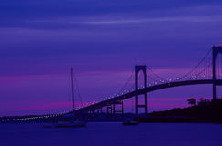 Sunrise in Newport, Rhode Island. The Sunrise on another beautiful day in Newport, Rhode Island. Image taken from color slide royalty free stock images