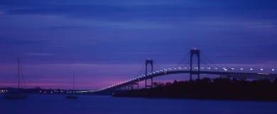 Sunrise in Newport, Rhode Island. The Sunrise on another beautiful day in Newport, Rhode Island. Image taken from color slide stock image