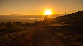 Sunrise in Ngorongoro Crater Stock Photo