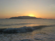 Sunrise. At Nha Trang beach, Viet Nam Stock Photo