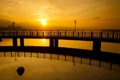 Sunrise with nice sky Royalty Free Stock Photo