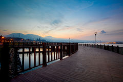 Sunrise with nice sky, the new Taipei, Taiwan Royalty Free Stock Image