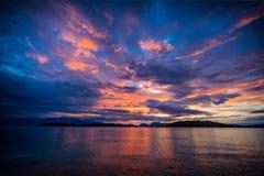 Sunrise in Nidri Lefkas island Stock Image