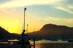 Sunrise in Niteroi, Brazil Royalty Free Stock Image
