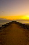Sunrise at Noosa Breakwater Royalty Free Stock Images