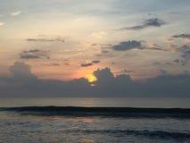 Sunrise North Carolina beach stock photo