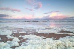 Sunrise on North sea coast. Ar storm Royalty Free Stock Image
