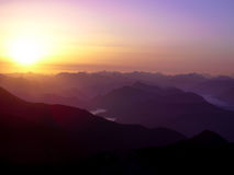 Sunrise in the northern alps Stock Images