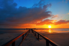 Sunrise at the Northern Sea Royalty Free Stock Photo