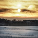 Sunrise a Cold Morning Royalty Free Stock Photo