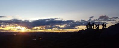 Sunrise. On Norway mountain top Stock Photo