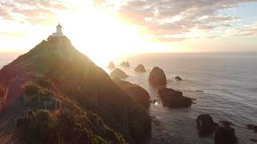 Sunrise at nugget point Royalty Free Stock Image