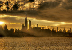 Sunrise in NY City Stock Photography