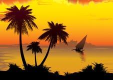 Sunrise on the ocean. Stock Photos