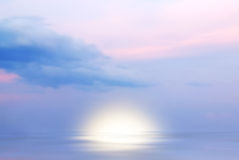 Sunrise on the ocean. In summer Stock Photography