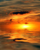 Sunrise at the ocean Royalty Free Stock Photography
