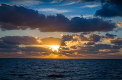 Sunrise at ocean Royalty Free Stock Image