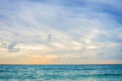 Sunrise on an ocean background in Thailand Royalty Free Stock Photos