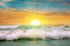 Sunrise on the ocean. Fantastic sunrise on the ocean Royalty Free Stock Photography