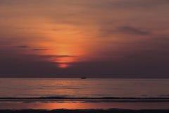 Sunrise at the ocean. In Huahin Stock Photos