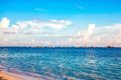 Sunrise on the ocean in Punta Cana Royalty Free Stock Photography