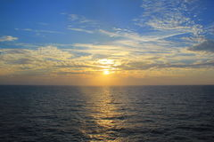 Sunrise in the ocean. Shot from the cruise ship Royalty Free Stock Images