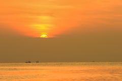 Sunrise in the ocean Stock Image