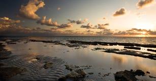 Sunrise off Florida Coast. Dramatic sunrise over Atlantic Ocean off Florida coast, right outside Miami Stock Photography