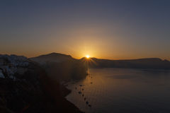 Sunrise in Oia Royalty Free Stock Photography