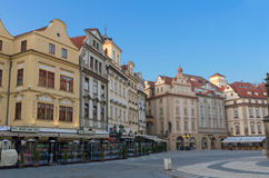 Sunrise Old Town Square cafes, Prague Stock Photography