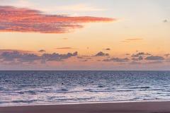 Sunrise on Omaha Beach in Normandy France stock photo