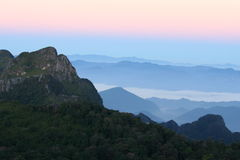 Sunrise On Doi Luang Chiang Dao. Royalty Free Stock Image